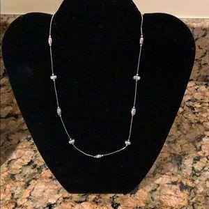 Silpada Silver Beaded Necklace